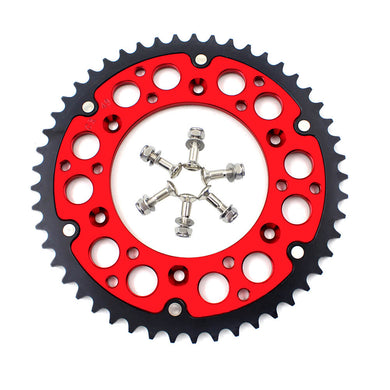 KKE REAR HYBRID SPROCKET 44T/48T/49T/50T/51T/52T RED FOR HONDA CRF250R CRF450R CRF250X CRF450X - KKE Racing