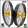 KKE 21 & 18 Enduro Wheels for SUZUKI DRZ400SM 2005-2020 Gold Black Spoke