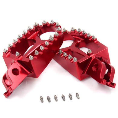 KKE CNC RED BLACK BLUE GREEN SILVER ALUMINUM FOOTPEGS FOR HONDA CRF250R CRF450R CRF450R CRF450X 02-19 CR125R CR250R 02-07 CRF150R 07-17 - KKE Racing