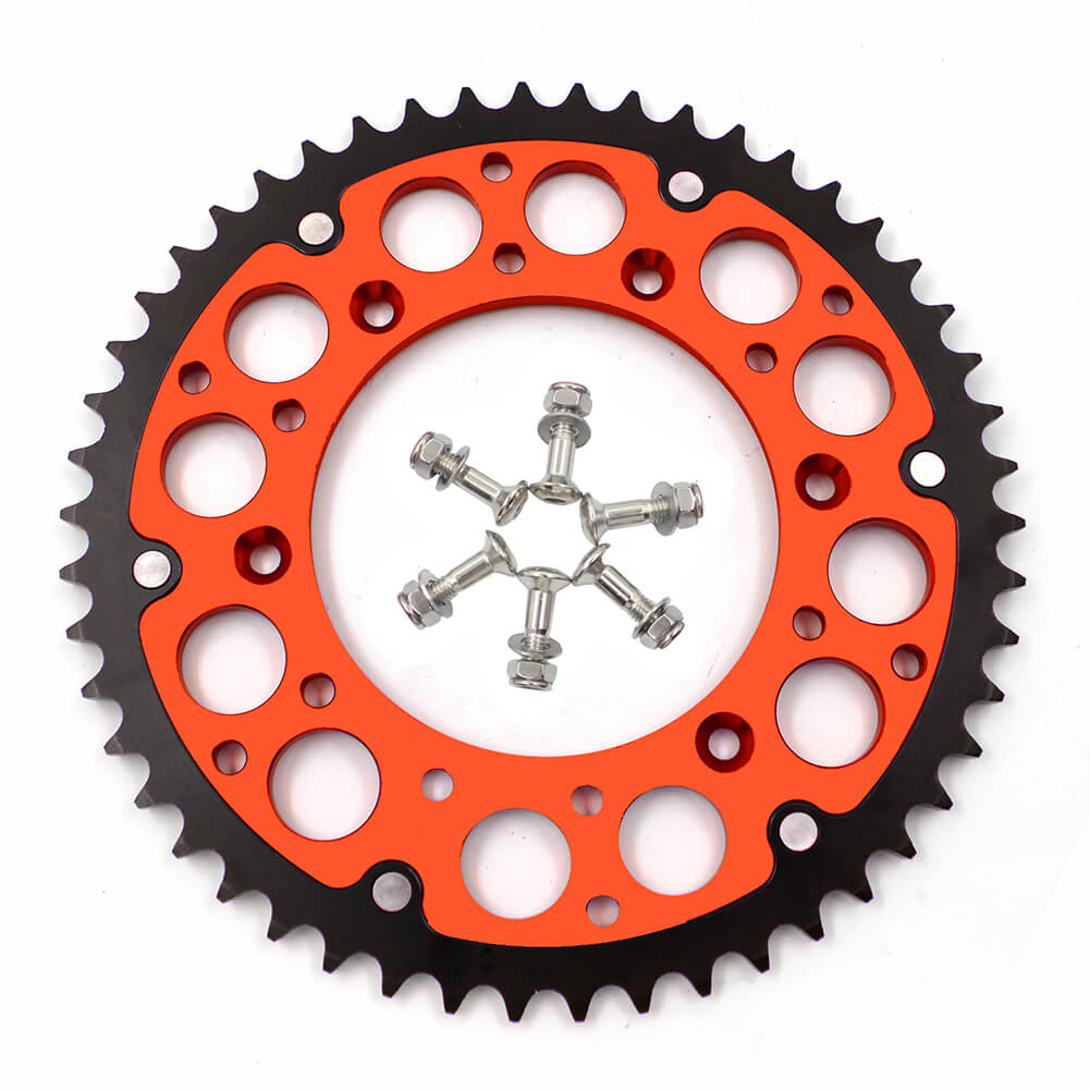 KKE 44T/48T/49T/50T/51T/52T BILLET REAR SPROCKET FOR KTM 125-530 ALL MODEL 1998-2019 ORANGE - KKE Racing