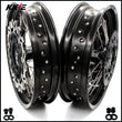 KKE 3.5 & 4.25 Supermoto Wheels for Suzuki DRZ400 DRZ400E DRZ400S Black