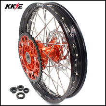 Load image into Gallery viewer, KKE 18 Inch Rear Cush Drive Wheel Rim for KTM EXC EXC-F EXC-W 125-530 2003-2020 Orange Hub