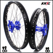 KKE 21 & 18 Inch Enduro Wheels Rims for Suzuki DRZ400SM 2005-2020 Blue