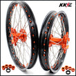 KKE 21 & 18 Enduro Wheels for EXC EXCW 125-530CC 2003-2021 Orange Nipple