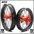 KKE 12 & 10 Kid's Wheels for 50 SX 2014-2016 Mini Bike Orange Hub