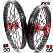 KKE 21 & 19 / 21 & 18 Wheels for Honda CRF250R 04-13 CRF450R 02-12 Red Black