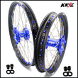 KKE 21 & 18 Inch Rims for SUZUKI DRZ400SM 2005-2020 Blue Nipple