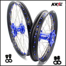 Load image into Gallery viewer, KKE 21 & 18 Inch Rims for SUZUKI DRZ400SM 2005-2018 Blue Nipple