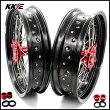 Load image into Gallery viewer, KKE 3.5 & 4.25 Supermoto Wheels for Honda CRF250R 04-13 CRF450R 02-12 Red