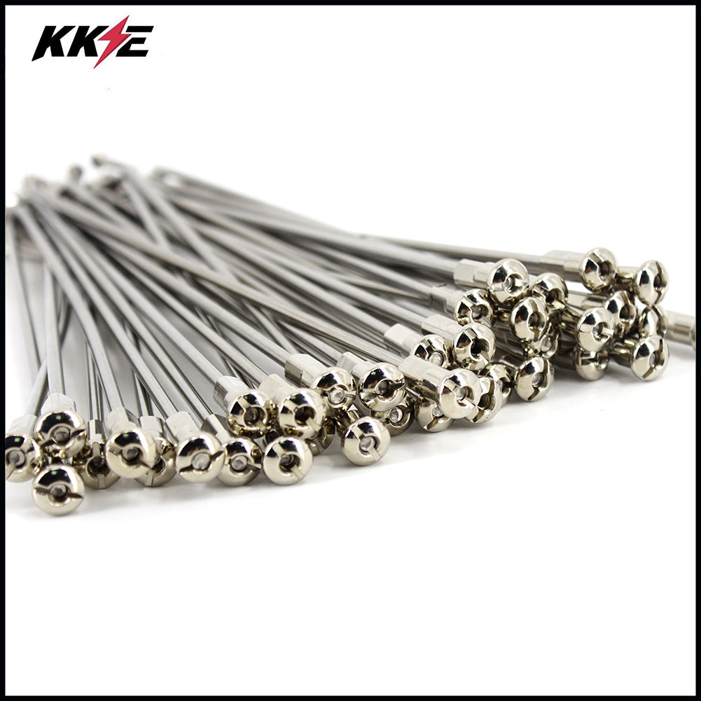 KKE 1.6*21 Front Stainless Steel Spoke Kit for KAWASAKI KX250F 2005-2018 KX450F 2007-2018