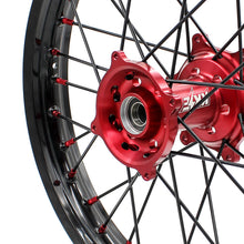 Load image into Gallery viewer, KKE MX/ENDURO WHEELS SET FIT HONDA CR125R CR250R 2002-2013 CRF250R 04-13 CRF450R 02-12 RED NIPPLE BLACK SPOKE - KKE Racing
