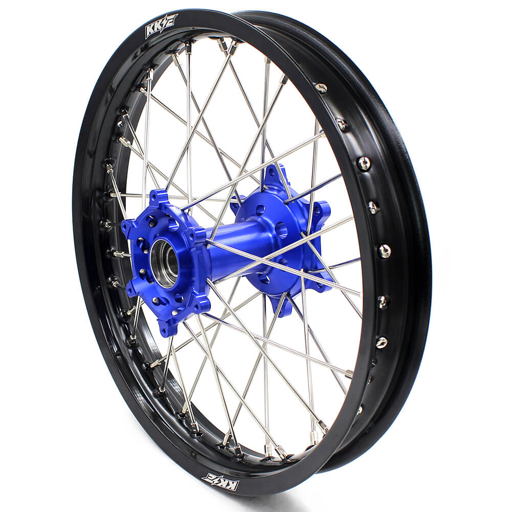 KKE 21/18 ENDURO WHEELS RIMS SET FIT YAMAHA WR250R 2008-2017 DIRT BIKE CNC BLUE HUB - KKE Racing