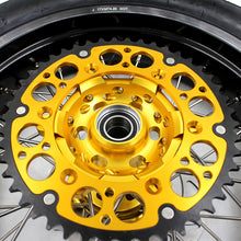 Load image into Gallery viewer, KKE 3.5 & 4.25 Supermoto Rims Tires for SUZUKI RMZ250 2007 RMZ450 2005-2020 Gold