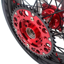 Load image into Gallery viewer, KKE 3.5 & 4.25 Supermoto Wheels for Honda XR650R 2000-2008 Disc Red Nipple