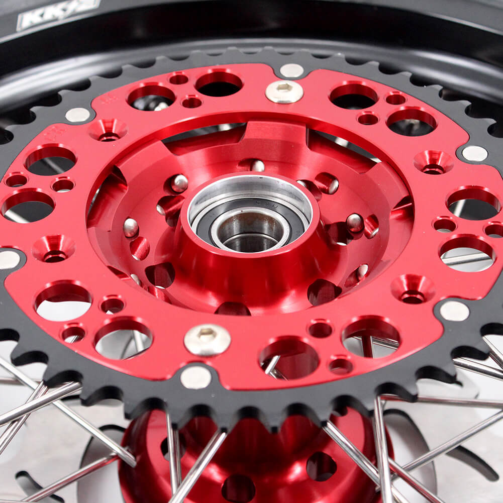 KKE CRF250X 2004-2017 CRF450X 2005-2017 3.5/4.25 SUPERMOTO WHEELS SET CST TIRE FIT HONDA MOTARD RIMS - KKE Racing