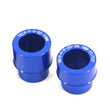 Replacement Spacers ONLY for KKE Wheels  Front 20mm Rear 22mm Spacer Kit for Yamaha YZ125 YZ250 Blue