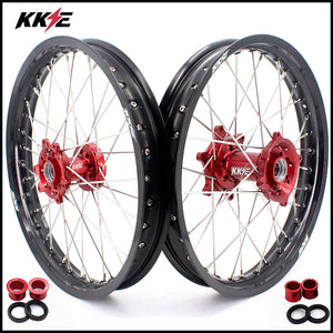 KKE 1.85*19 & 2.15*19 Flat Track Wheels Rims Set for Honda CRF250R 14-19 CRF450R 13-19 CRF450L 19-20