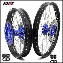 Load image into Gallery viewer, KKE 21 & 19 MX Wheels for Kawasaki KX125 KX250 1993-2002 Blue Black Discs