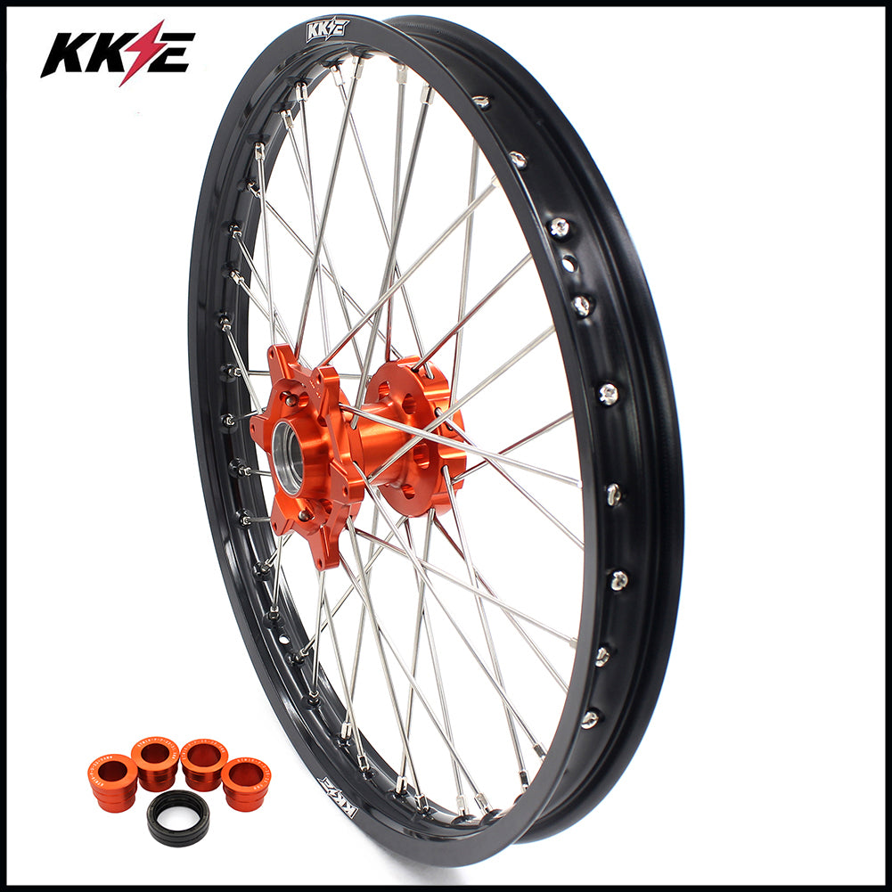 KKE 21 In. Front Wheel Rim for KTM SX SXF XCW XCF XC EXC EXCF EXCW 125-530 2003-2020 Orange