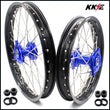 KKE 17 & 14 YZ80 1990-2001 YZ85 2002-2020 Kids Wheels for Yamaha Blue Hub
