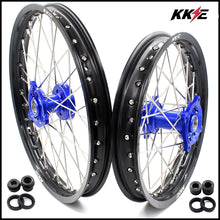 Load image into Gallery viewer, KKE 17 & 14 YZ80 1990-2001 YZ85 2002-2020 Kids Wheels for Yamaha Blue Hub