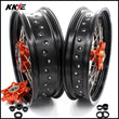 KKE 3.5 & 4.5 Cush Drive Wheels Set for  690 Enduro R 2008-2019 SMC 2007-2011 Orange Hub