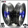 KKE 17 Inch Cush Drive Supermoto Rims for SUZUKI DR650SE 1996-2020 Blue
