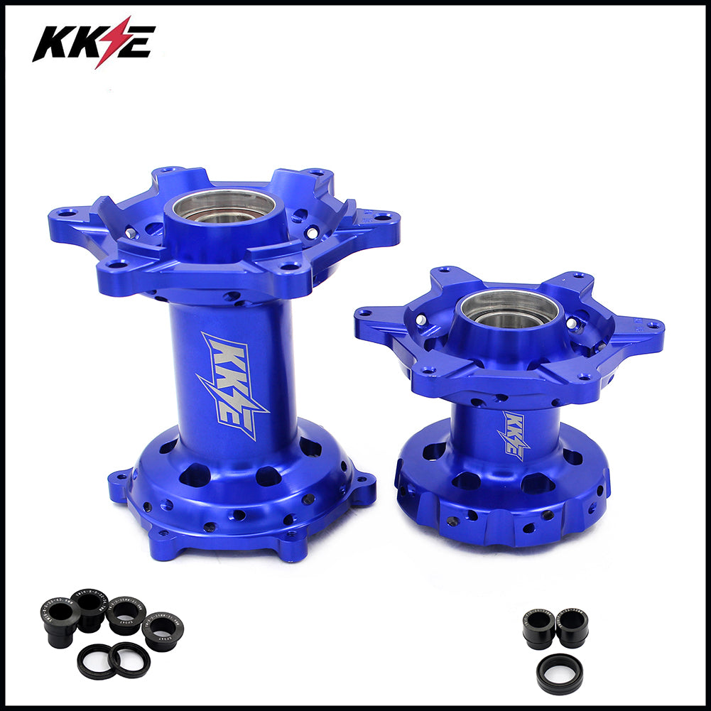KKE Blue Anodized Front and Rear Hubs for YAMAHA WR250F 2001-2018 WR450F 2003-2018
