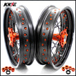KKE 3.5 & 4.25 Rims for SX SX-F XC-F XC EXC EXC-F 2003-2021 Orange Black
