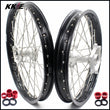 KKE 21 & 19 MX Casting CR125R CR250R 2002-2013 Wheels for Honda Silver