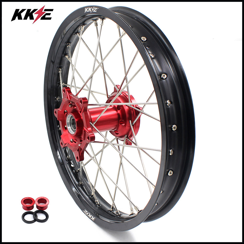 KKE 19 Inch Rear Wheel Rim for HONDA CRF250R 14-19 CRF450R 13-19 Red Black