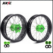 KKE 17 Inch Supermoto Rims for KAWASAKI KX250F KX450F 2006-2018 Green