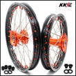 KKE 17 & 14 Small Kids Wheels Rims for  85 SX 2003-2020 Orange Hub Nipple