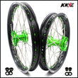 KKE 19 & 16 Big Kids Wheels for KAWASAKI KX85 KX80  KX100 Green Nipple