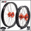 KKE 17 & 14 Kid's Small Wheels Rims fit 85 SX 2003-2020 Orange