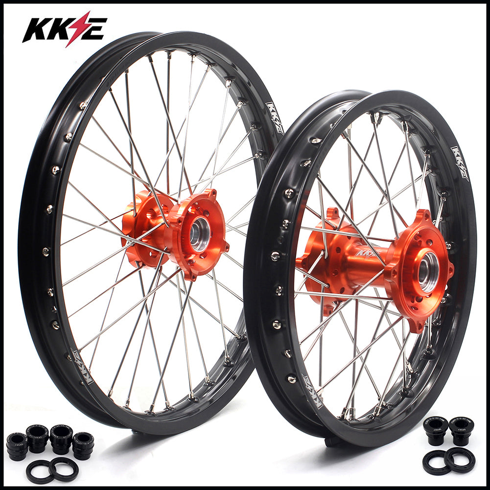 KKE 17 & 14 Kid's Small Wheels Rims fit KTM 85 SX 2003-2020 Orange