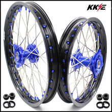 Load image into Gallery viewer, KKE 19 & 16 Big Kids Wheels Rims for Yamaha YZ80 1990-2001 YZ85 2002-2020 Blue Nipple