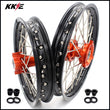 KKE 14 & 12 Spoked Kids Rims for 50 SX 2014-2016 Orange