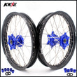 KKE 1.85*19 & 2.15*19 Flat Track Wheels for Yamaha YZ125 YZ250 YZ250F YZ450F Blue