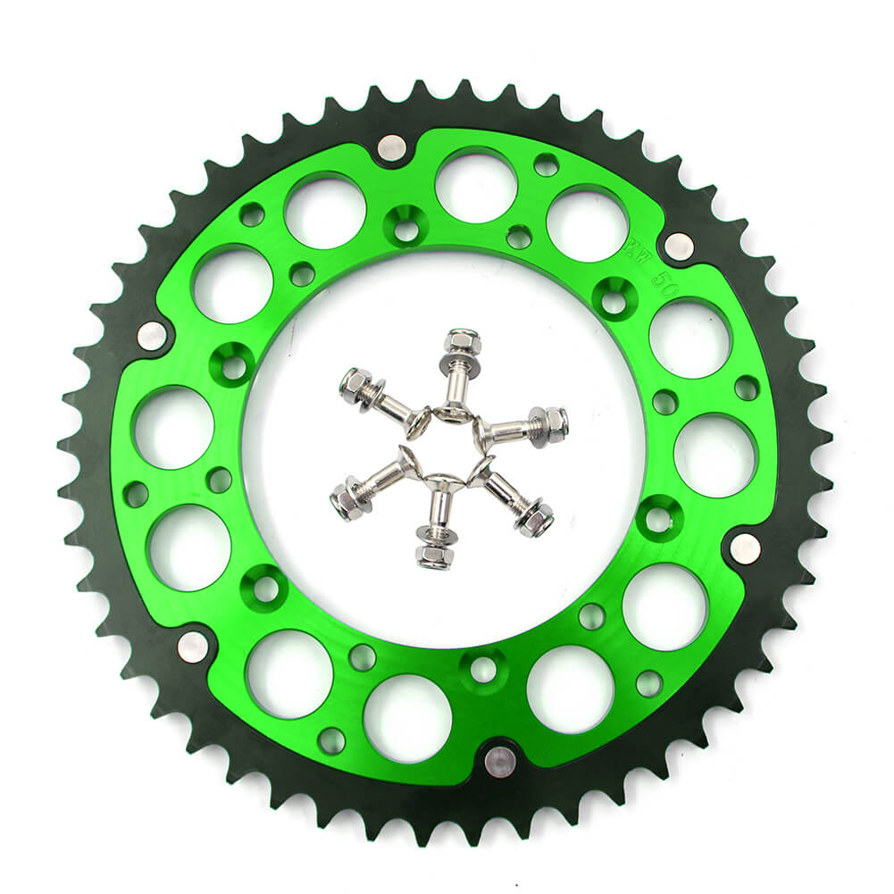 KKE GREEN BLUE 44T 48T 49T 50T 51T REAR BILLET SPROCKET FOR KAWASAKI KX250F KX450F 06-19 KLX 450R 07-17 - KKE Racing