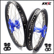 KKE 21 & 18 Enduro Wheels for Yamaha WR250X 2008-2011 Blue