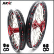 KKE 19 & 16 Kids Wheels for Honda CRF150R 2007-2021 Red Alloy Nipple