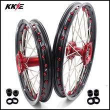 Load image into Gallery viewer, KKE 19 & 16 Kids Wheels for Honda CRF150R 2007-2021 Red Alloy Nipple