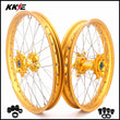 KKE 21 & 19 Wheels Gold Rims for Suzuki RM125 2001-2007 RM250 2001-2008