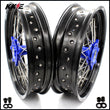 KKE 3.5 & 4.25 Supermoto Wheels for SUZUKI DRZ400SM 2005-2020 Blue