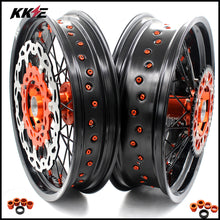 Load image into Gallery viewer, KKE 3.5 & 4.25 Rims for KTM SX SX-F XC-F XC XCW 2003-2020 Orange Black Disc
