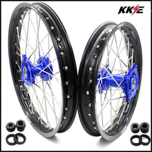 Load image into Gallery viewer, KKE 19 & 16 Spoked Kid's Wheels Rims Set for Kawasaki KX80 KX85 Blue