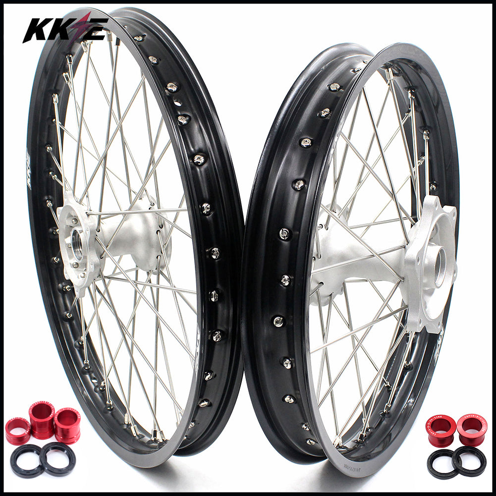 KKE Casting 21 & 19 MX Wheels Rims Set for Honda CRF250R 2014-2020 CRF450R 2013-2020 CRF450L 2019-2020