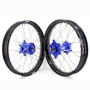 KKE 19 & 19 Flat Track Wheels for KTM SX SX-F XC XC-F XCW 125-530 Blue