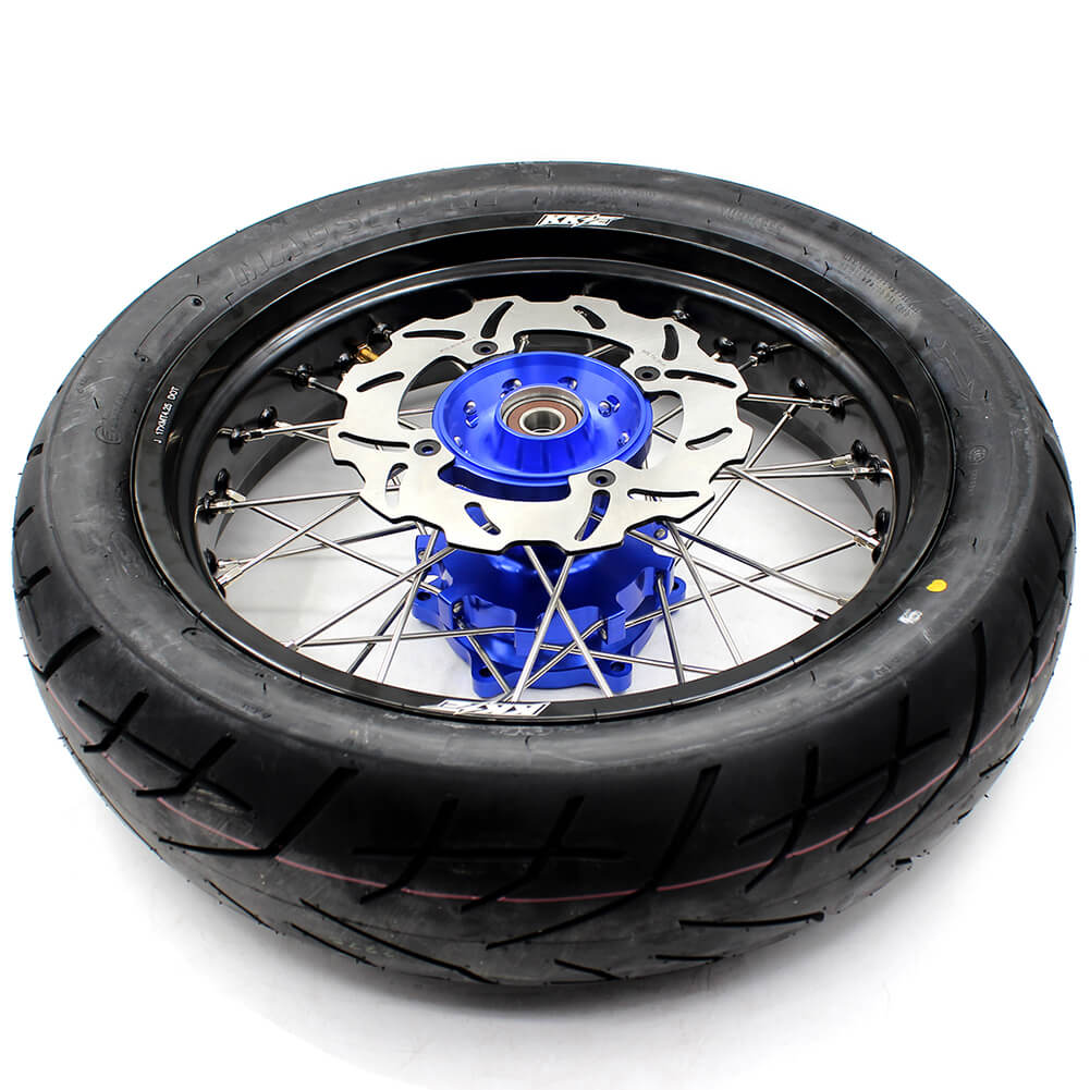 SUZUKI-DR650SE-SUPERMOTO-REAR-WHEELS-SET-240MM-DISC-SIDE-HUB
